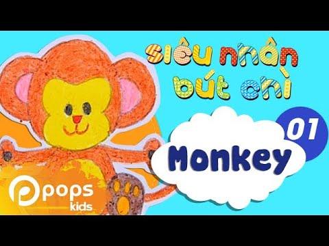 Hướng Dẫn Vẽ Con Khỉ - Siêu Nhân Bút Chì - Tập 1 -  How to draw Monkey