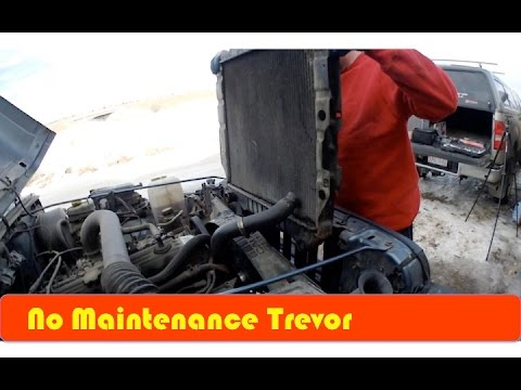 Blown Radiator Replacement In a Jeep TJ DIY