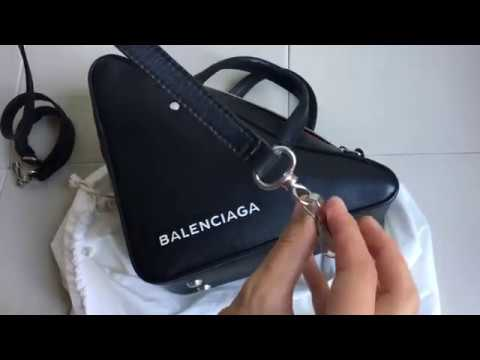 BALENCIAGA triangle bag unboxing - YouTube