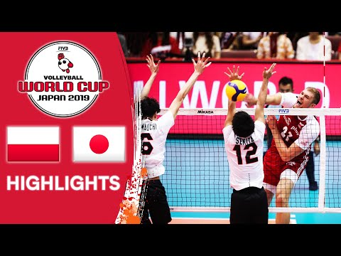 POLAND Vs. JAPAN - Highlights | Men's Volleyball World Cup 2019