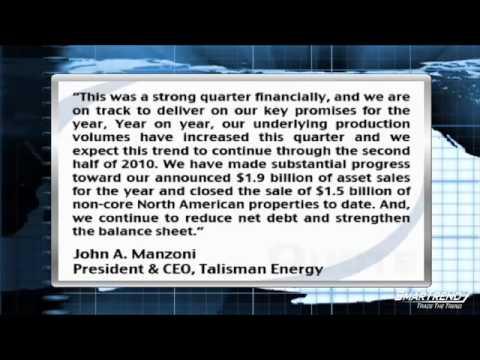 Talisman Energy Tops EPS Estimates But Revenues Fall Short, Closed Asset Sale