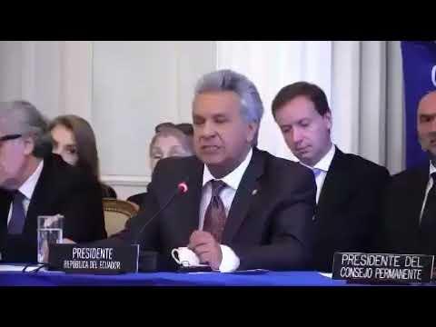 Lenín Moreno propone aplicación de la Doctrina Roldós específicamente para Venezuela y Nicaragua