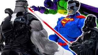 Power Rangers & Marvel Avengers Toys Pretend Play | Grey Hulk Defeat Superman Doomed Army