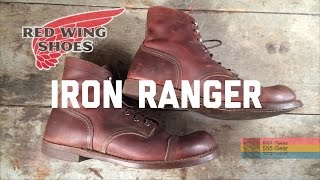 "Review: Red Wing Iron Ranger 6"" Heritage Boots #8111 USA Made ""Emblem of New Heritage Boots"""
