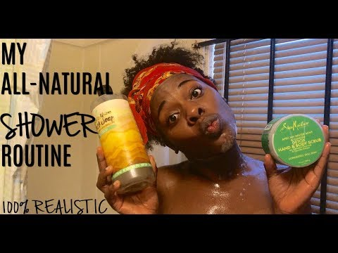 MY ALL-NATURAL SHOWER ROUTINE | FOR HEALTHY AND SUPPLE SKIN 2018