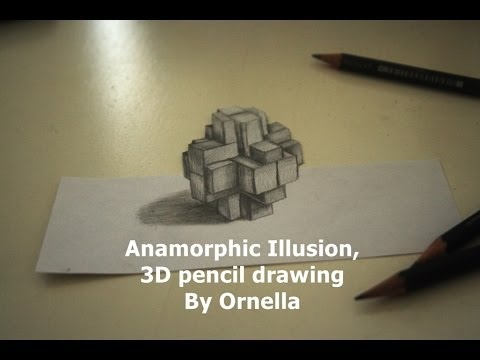 Anamorphic illusion speed 3d pencil drawing