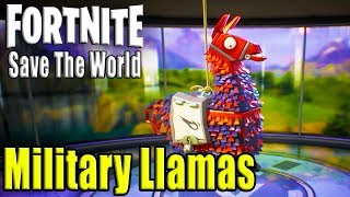 Fortnite Save The World - Military Llamas | HackSaw Weapon Is Back! Part 2 (Xbox)