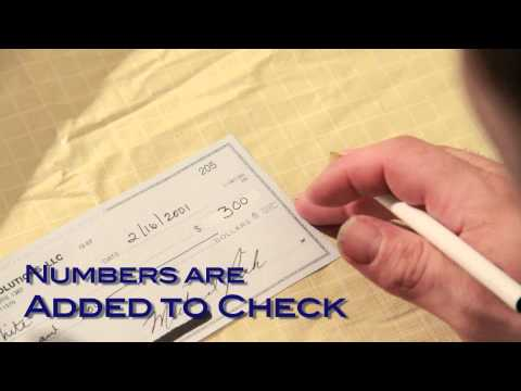 Forging a check - Forensic Analysis