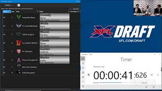 XFL Draft Day 2