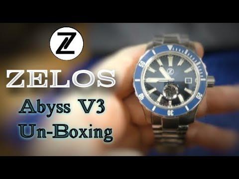 Zelos Abyss V3 Un-boxing 3000m Dive Watch !!!