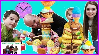 Squishies Pile High Tower Challenge / That YouTub3 Family
