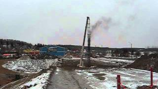 Pile Driver In Athabasca