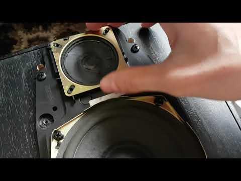Как разобрать колонки от муз центра Technics Panasonic