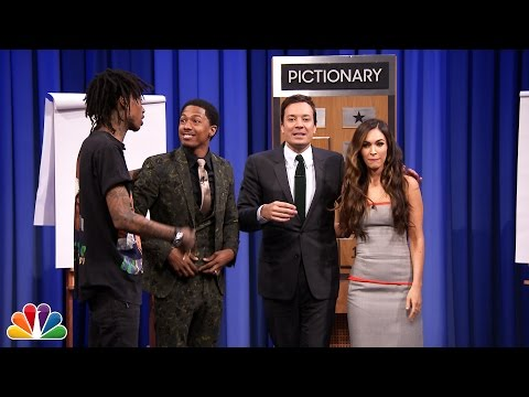 Pictionary with Megan Fox, Nick Cannon and Wiz Khalifa  Part 2