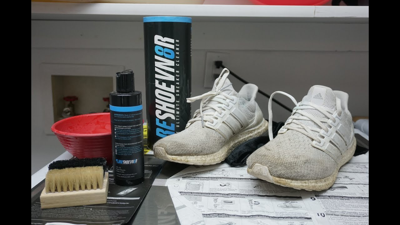 d033ec5413fb9 How To Clean White Adidas Ultra Boost With Reshoevn8r - YouTube