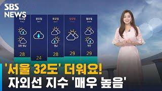 [날씨] '서울 32도' 더위 절정…자외선 지수 '매우…