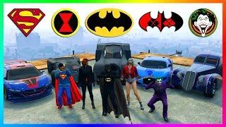 GTA ONLINE SUPERHEROES VS SUPERVILLAINS SPECIAL - BATMAN VS SUPERMAN, JUSTICE LEAGUE, THOR & MORE!
