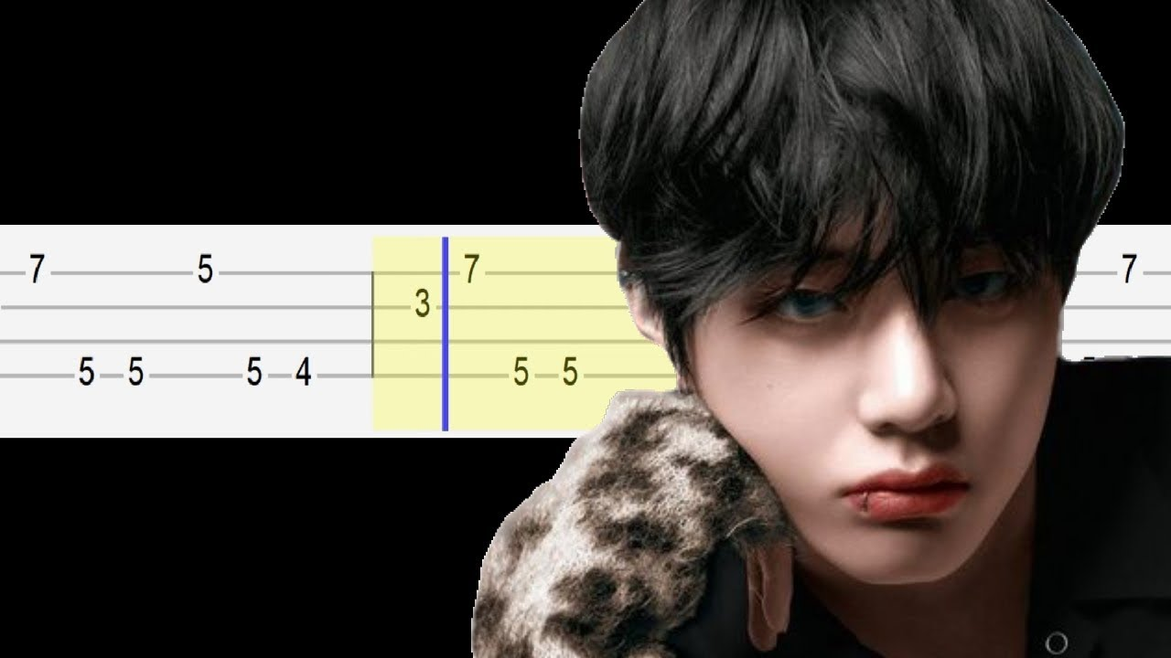 bts v winter bear easy ukulele tabs tutorial youtube