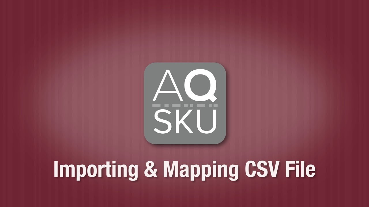 AQ SKU Mapping Vendors Items