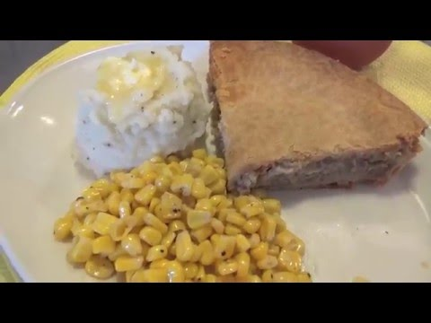 What's For Dinner Tonight –  Tourtiere , Mashed Potatoes And Corn