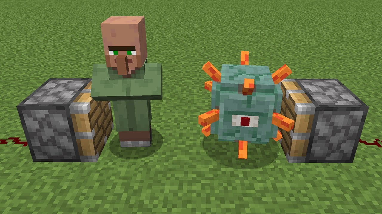 WHAT if Villager + Guardian in MINECRAFT ??