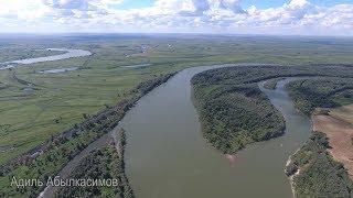 ☝▶ СТАН на острове реки Иртыш. Павлодарская область. Казахстан