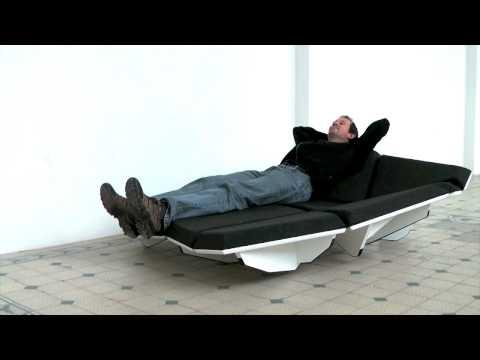 "dynamisches designer sofa ""cay"" in futuristischer optik, Mobel ideea"