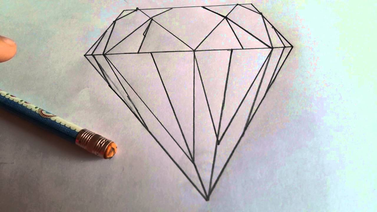 How to draw a hard to draw looking diamond but actually for Really hard stuff to draw
