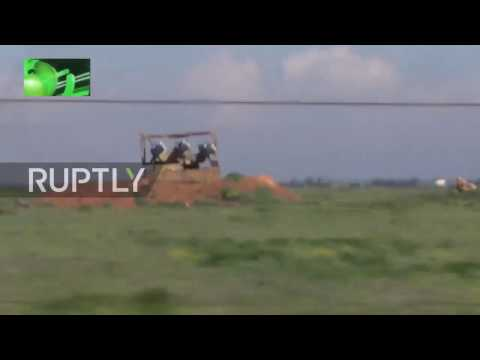 Aftermath Footage: Shayrat airbase in Syria after US missile strike