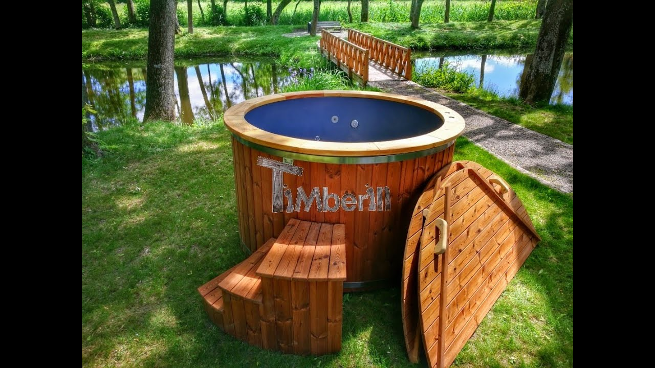 Jacuzzi Pool Deluxe Hot Tub Fiberglass Deluxe With Wooden Finish And Electric Heater Timberin