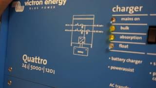 видео Инвертор 2000 Вт с чистой синусоидой Victron MultiPlus Compact 24/2000/50-30 — купить инвертор для инкубатора в Солнечные.RU
