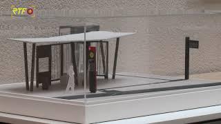 Modell zeigt zukünftige Bushaltestellen am Europaplatz