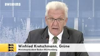 Ministerpräsident Kretschmann zufrieden mit neuem Länderfinanzusgleich