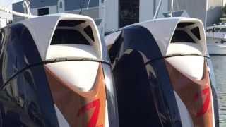 Engine Start - Twin Seven Marine 627s   Intrepid Powerboats 375 Center Console