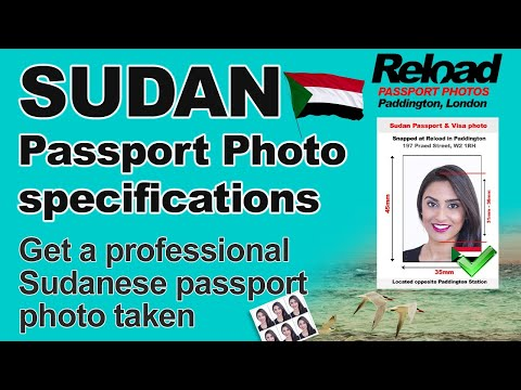 Sudan Passport Photo and Visa Photo snapped in Paddington, London