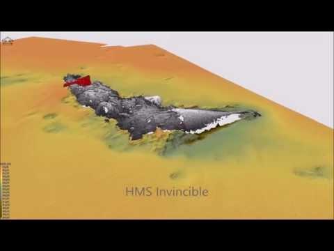 Fly-through of World War I Battle of Jutland wrecks