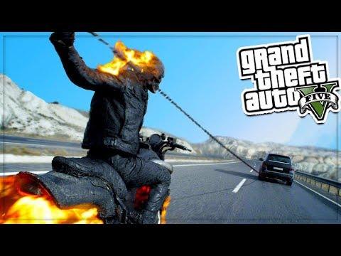 GTA 5 Mods: GHOST RIDER MOD!💥😱👻 (GTA 5 Mods Gameplay)