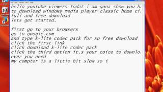 how to download windows media player classic home cinema {2013 update}