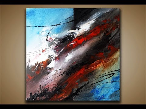 Abstract Painting DEMO 34 Art Blending Acrylics Techniques
