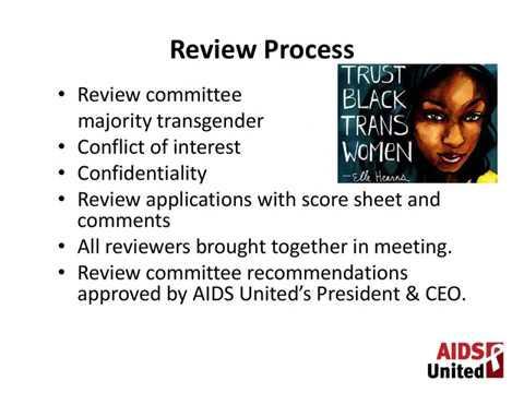 Transgender Leadership Initiative - Application Assistance Webinar 2