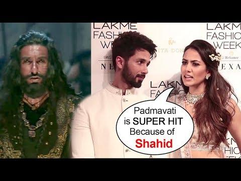 Shahid Kapoor's Wife Meera Rajput's BEST Reply On Why Padmavati Became SUPER HIT