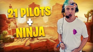 Ninja & 21 Pilots Tyler Joseph CLUTCH VICTORY ROYALE! Ft CourageJD (Lollapalooza)