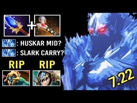 NEW STYLE Carry AA Counter Huskar Slark Rod Of Atos + Scepter Build Epic Fun Gameplay 7.22 Dota 2