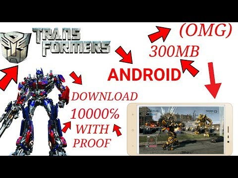 [300MB]Download Transformers The Game With High Graphics | Any Android Device (Hindi/Urdu) 2017
