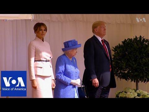 Queen Elizabeth Welcomes President Trump