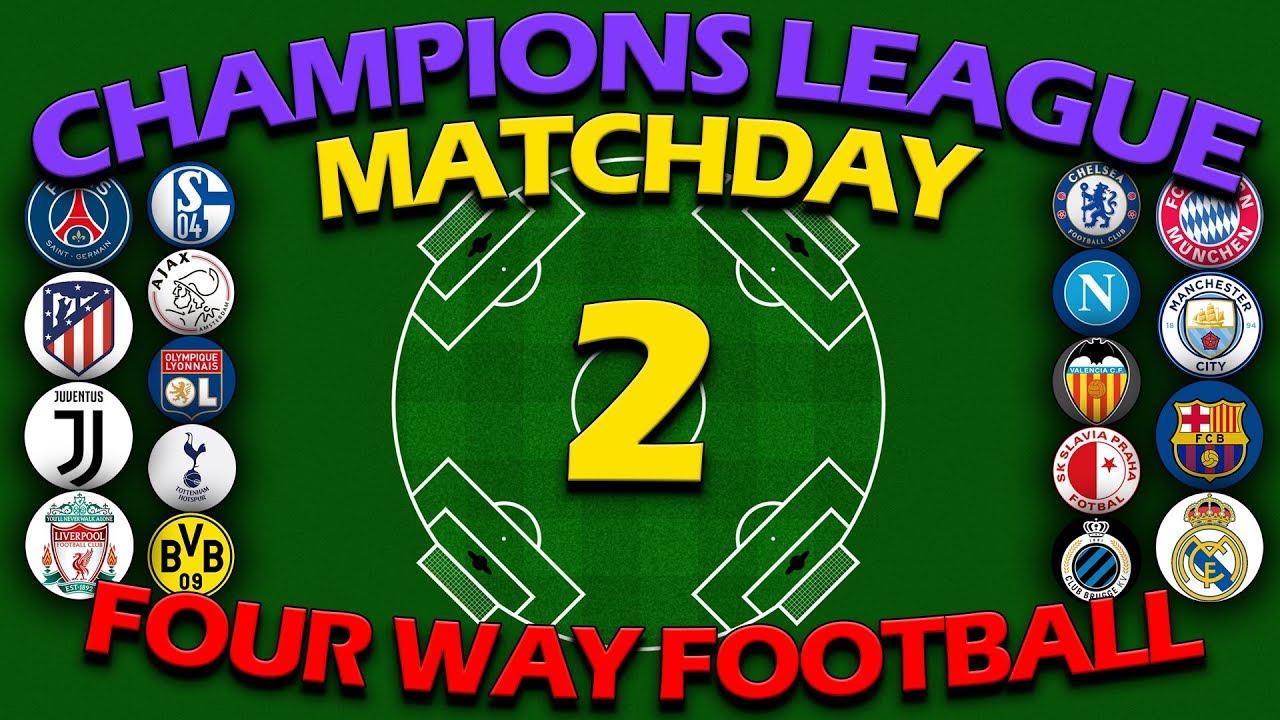 Four Way Football Uefa Champions League 2019 20 Match Day 2 Algodoo
