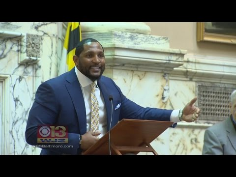Baltimore Raven Ray Lewis Speaks In Annapolis, Promoting Jobs, Outreach Programs