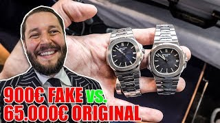 900€ Fake vs. 65.000€ Original Patek Philippe 😮 Messe München Action