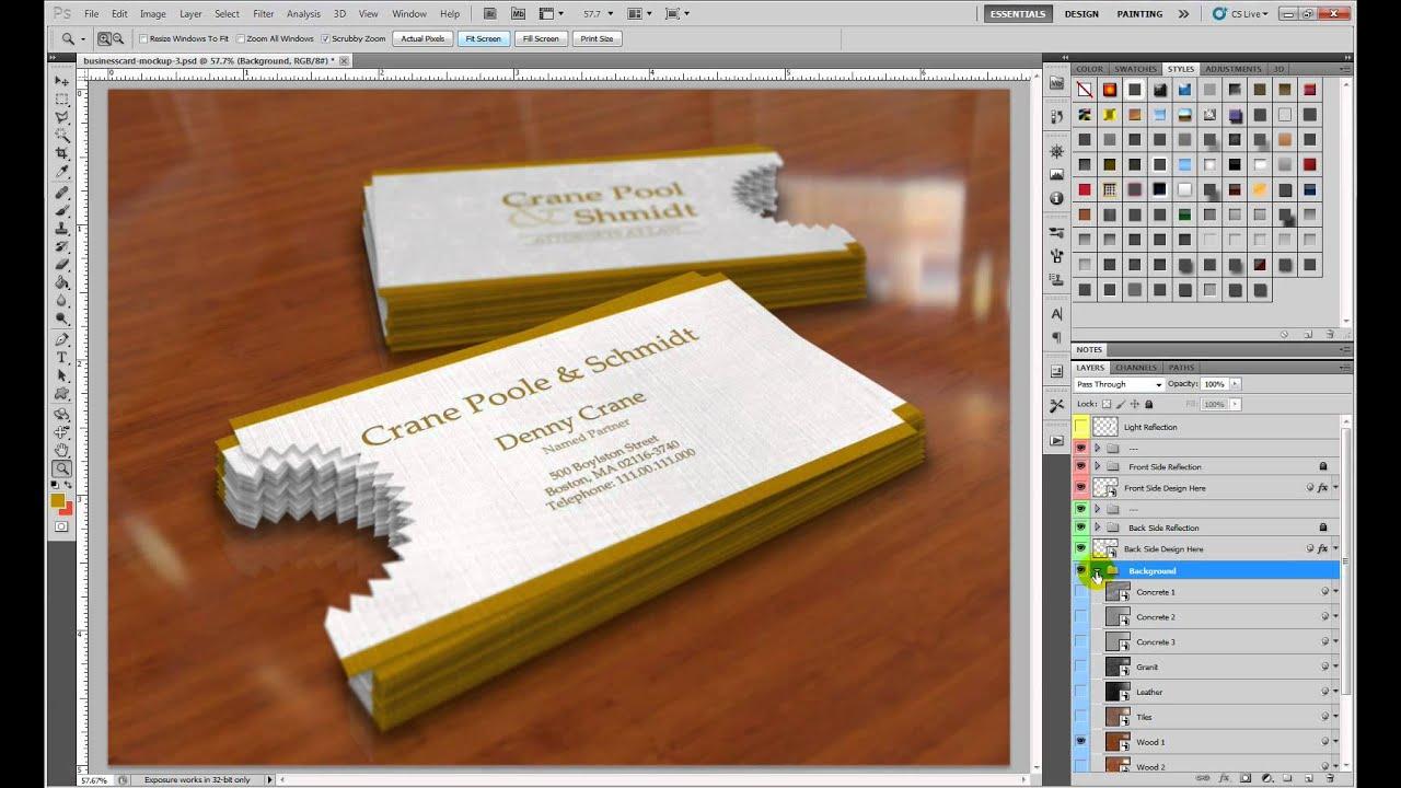 Business Card Mockup 3 - YouTube