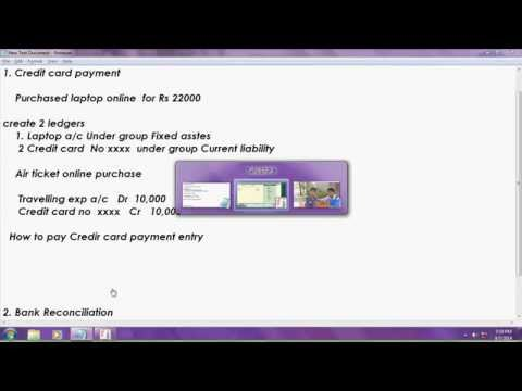 Automated bank reconciliation and credit card payment in tal